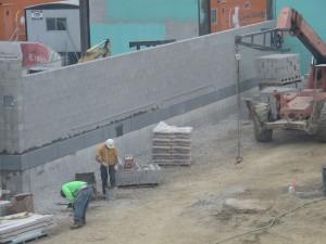 Building the garden wall