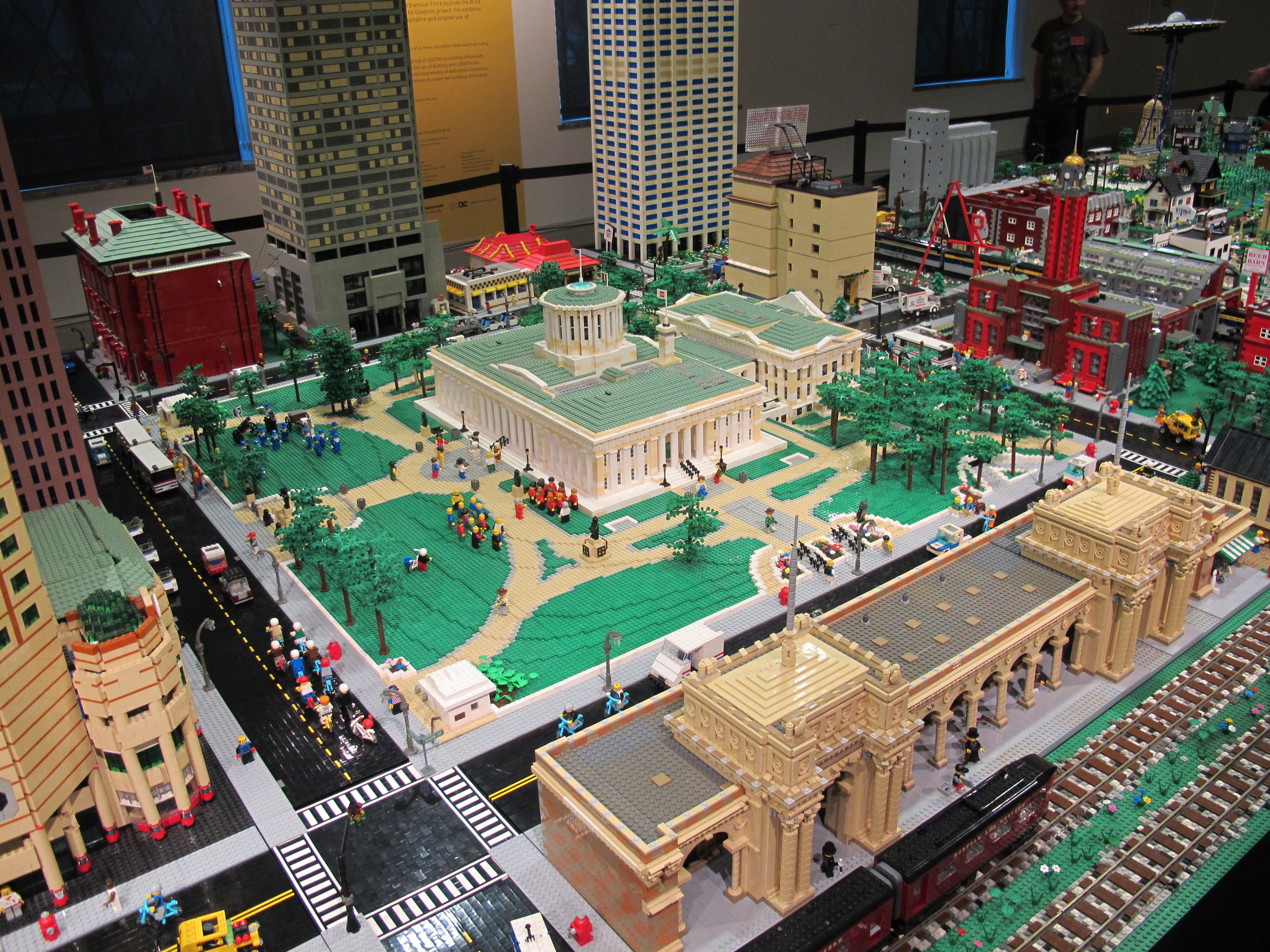 lego think outside the brick exhibition at columbus museum