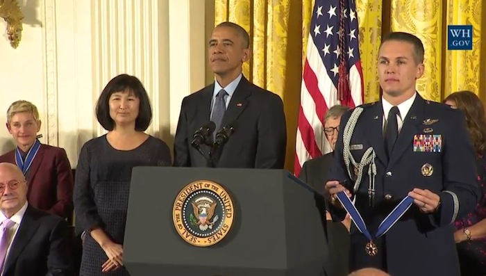 Artist Maya Lin is awarded the Medal of Freedom
