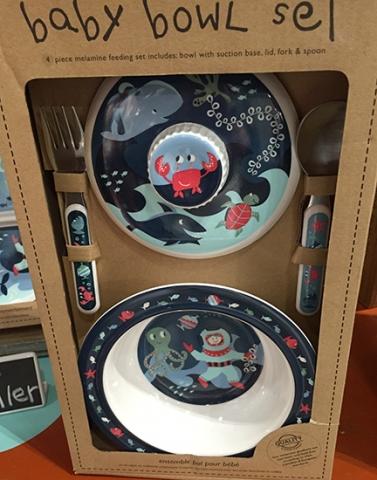 Blue Sea-Themed Bowl Set