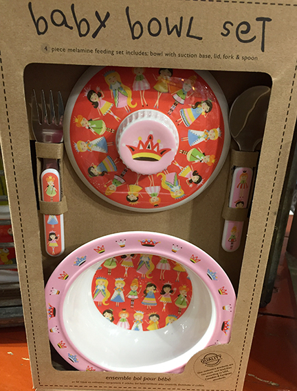 Red and Pink Baby Bowl Set