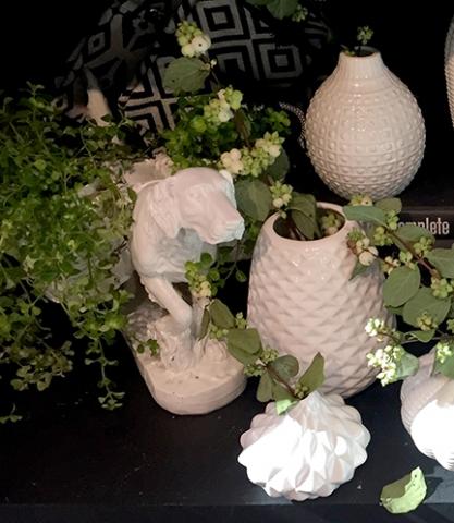 White Vases and Planter