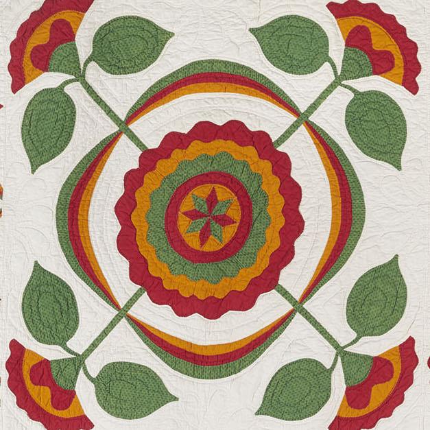 Botanical Wonders flower quilt detail