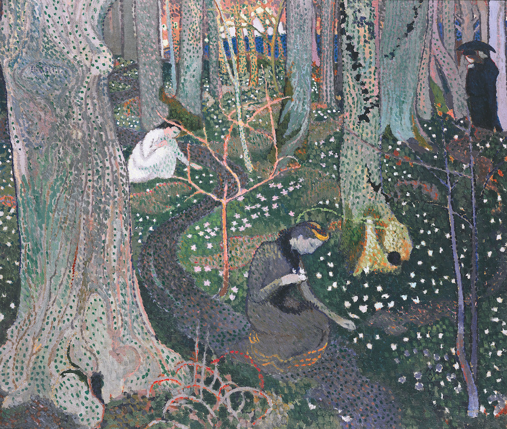 Avril Les Anémones by Maurice Denis, (1891), Private Collection
