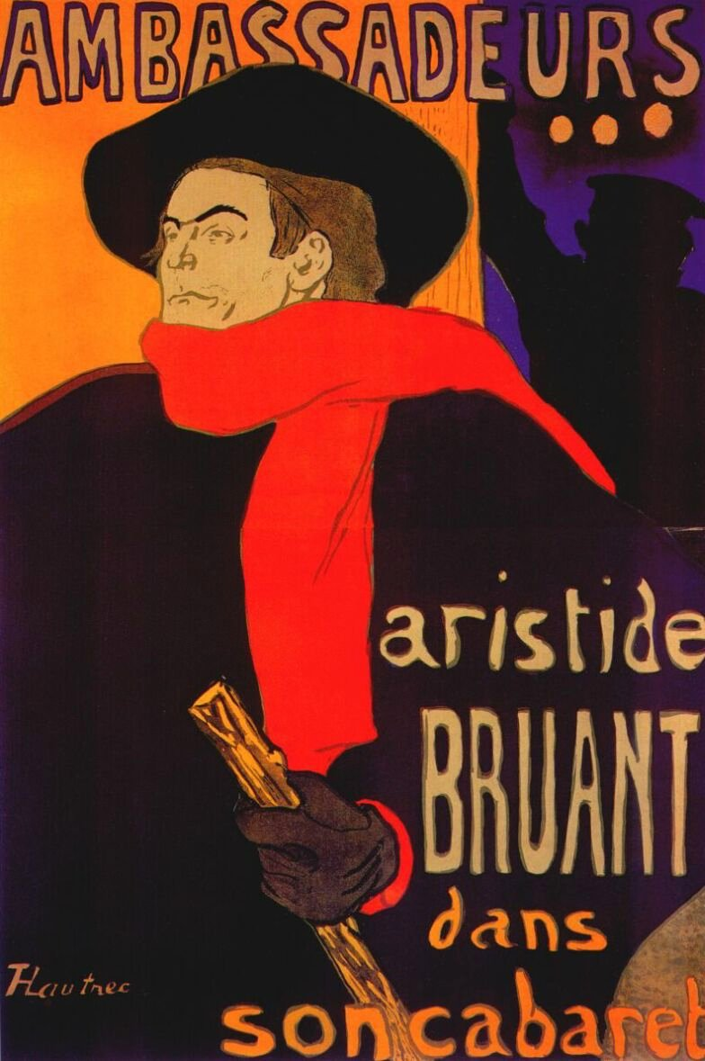 eurs Aristide Bruant by Henri de Toulouse-Lautrec, 1892, Private Collection