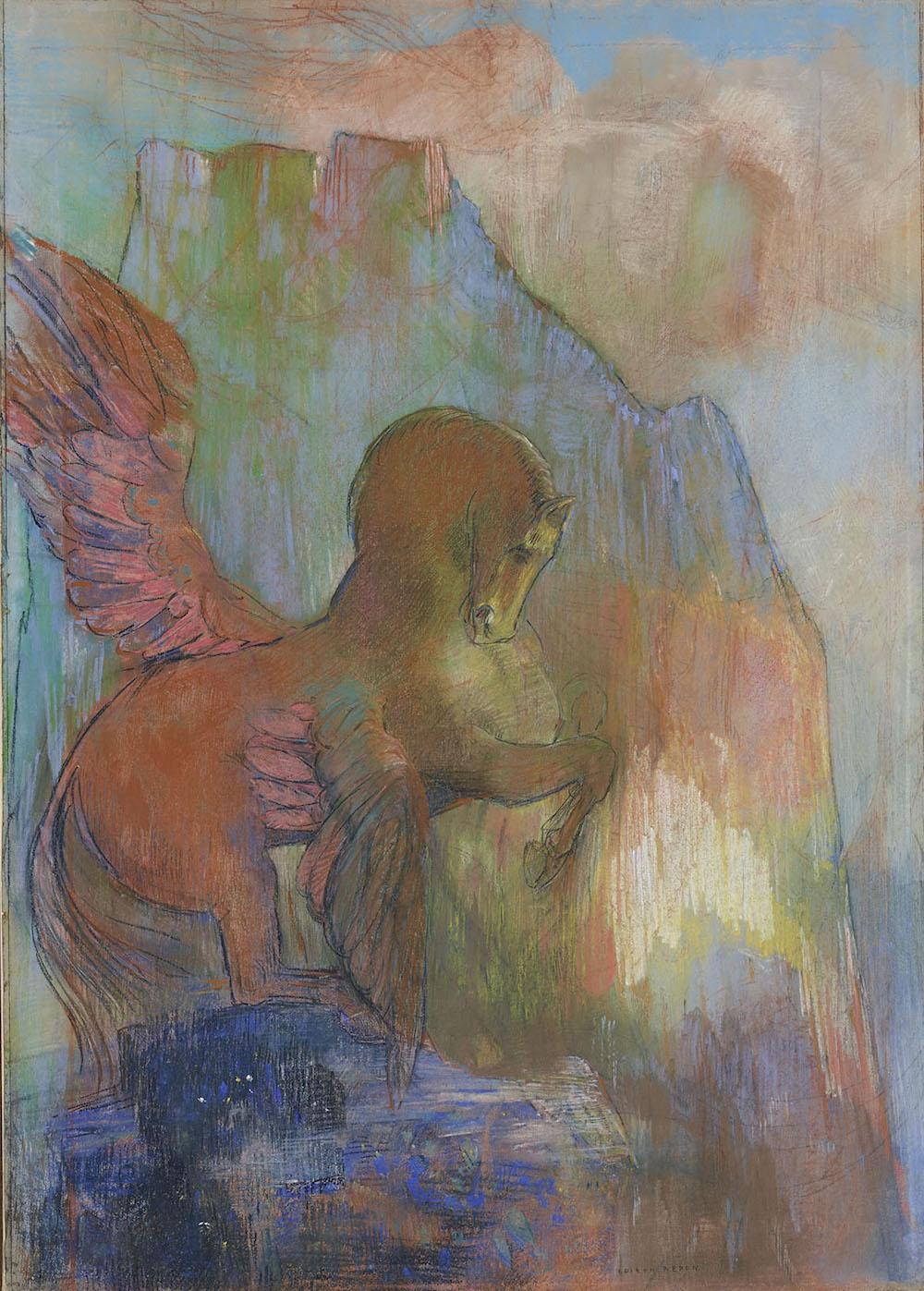Pégase by Odilon Redon, circa 1895-1900, Private Collection