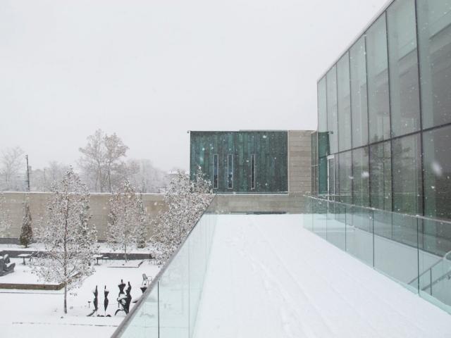 View from Schottenstein Property Group Pavilion Overlooking the Sculpture Garden