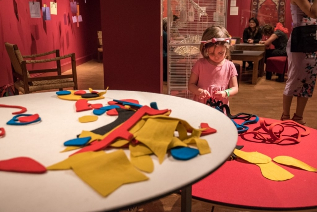 Play with shapes inspired by an Alexander Calder textile