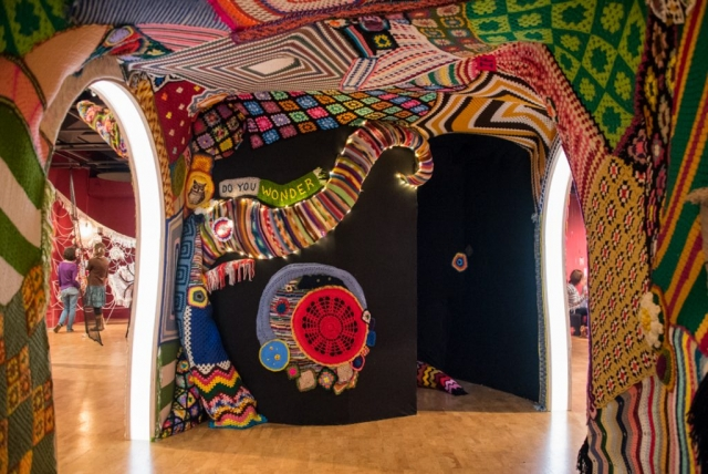 Artist Jeila Gueramian's version of a blanket fort