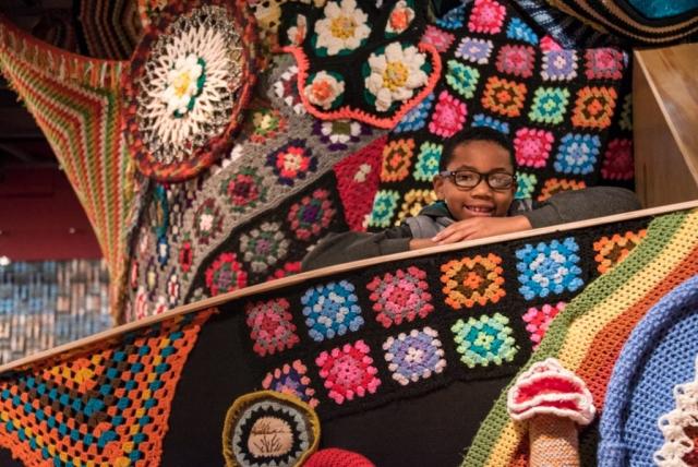 Artist Jeila Gueramian's blanket fort