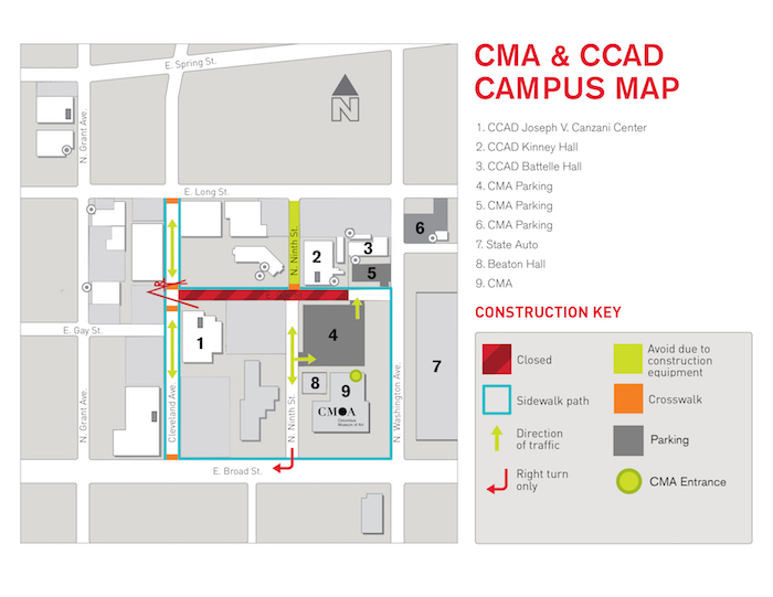 CMA CCAD Creative Campus Map