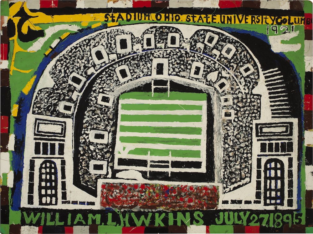 Ohio State University Stadium #1, 1983, by William Hawkins. Columbus Museum of Art, Museum Purchase. Courtesy Ricco/Maresca Gallery New York