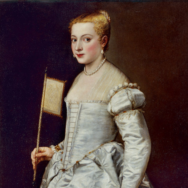 Titian Portrait of a Lady in White