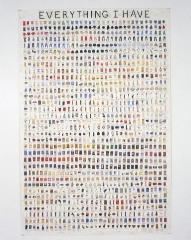 Simon Evans, Everything I Have, 2008, © Simon Evans. Courtesy James Cohan, New York
