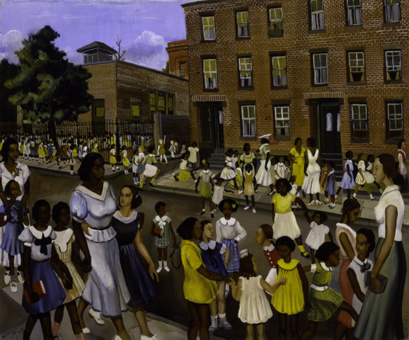 Allan Rohan Crite, School's Out, Smithsonian Museum of American Art