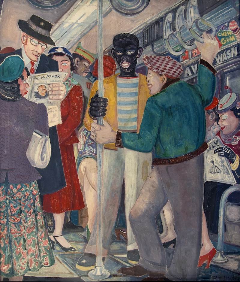 Palmer Hayden, The Subway, 1930s, New York State Office of General Services / Harlem Art Collection