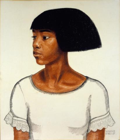 Winold Reiss, Harlem Girl, ca. 1925, Museum of Art and Archeology, University of Missouri