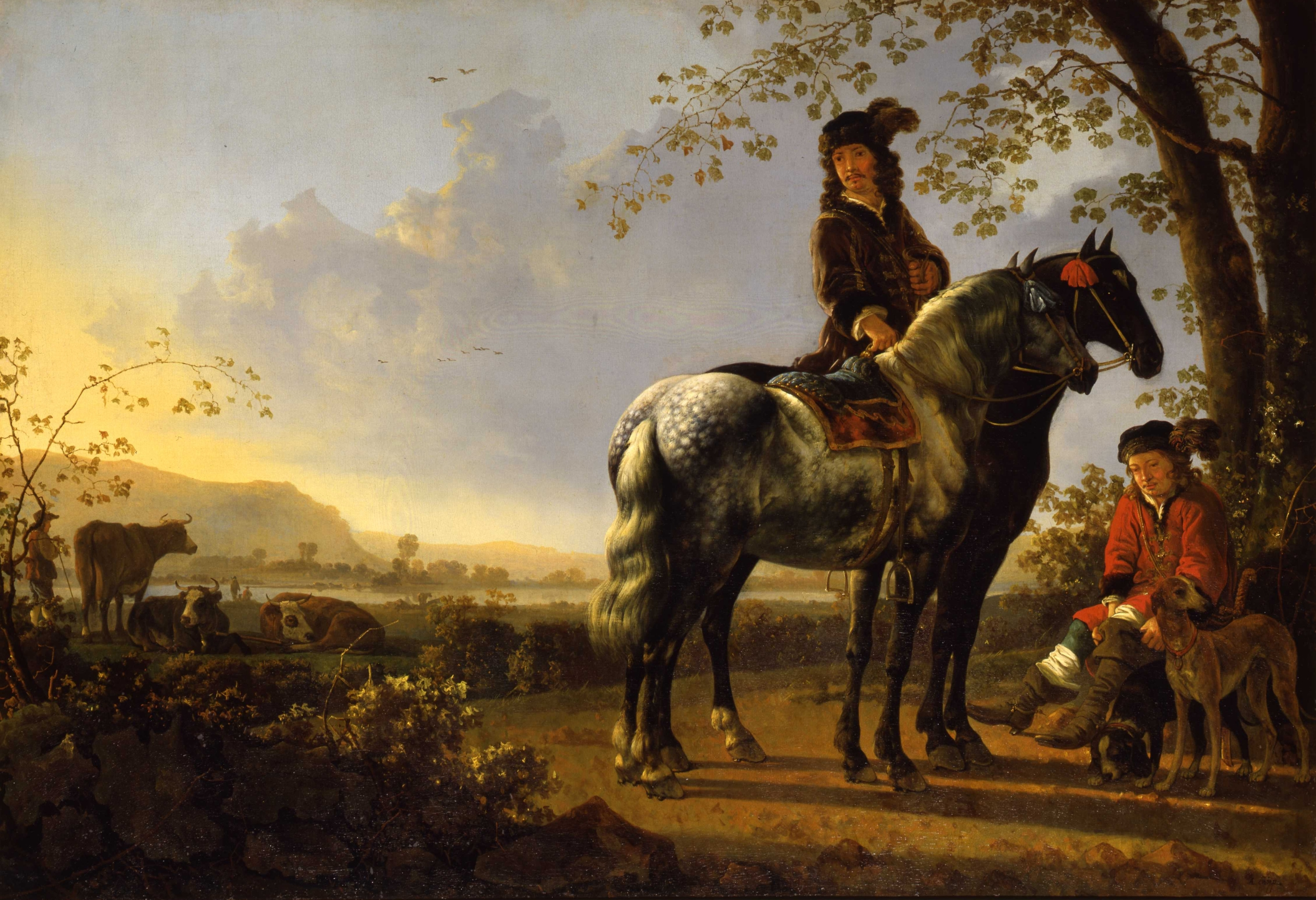 Aelbert Cuyp, Horsemen Resing in a Landscape, Collection of the Dordrecht Museum, purchased with support of Vereniging Rembrandt 1978.