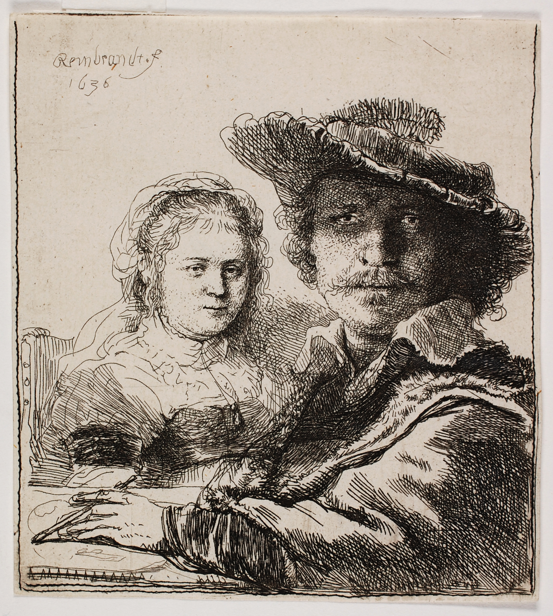 Rembrandt van Rijn, Self-Portrait with Saskia, 1636. Collection of Dordrecht Museum, on loan from Teekengenootschap Pictura