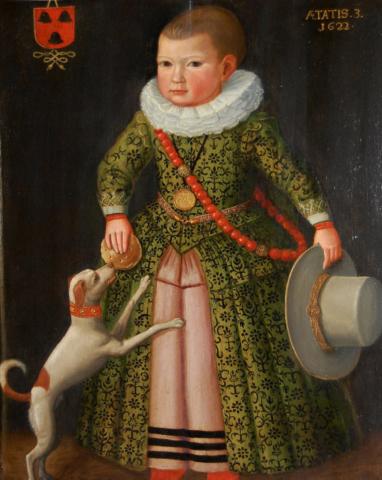 Unidentified Dutch Artist, Portrait of Rochus Ress, as a three-year-old boy, 1622. Collection of Huis Van Gijn, Dordrecht