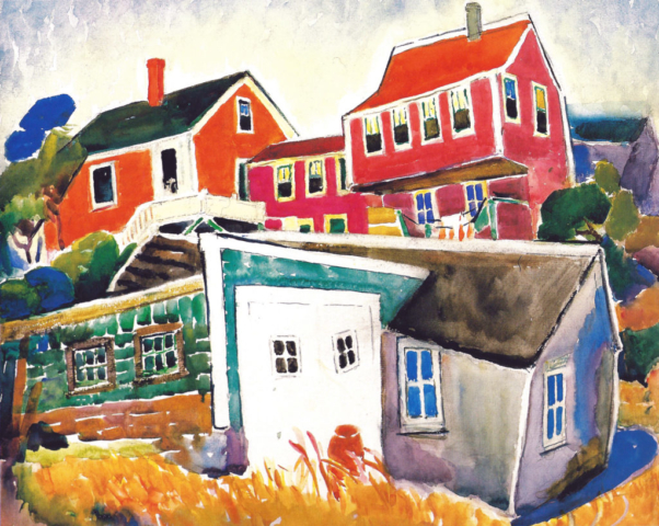 Alice Schille, Colorful Cottages, Gloucester