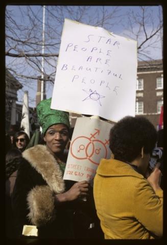 Diana Davies, Gay Rights Demonstration, Albany, NY, 1971