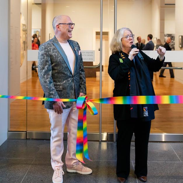 Jim Obergefell, Nannette Maciejunes Art after Stonewall opening at Columbus Museum of Art