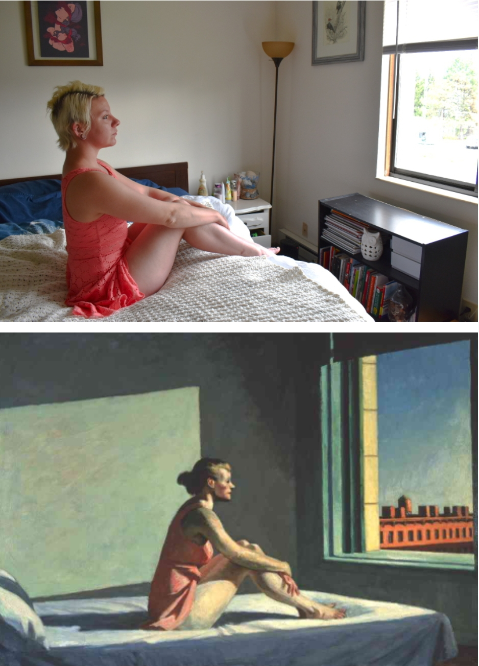 Inspired by Edward Hopper's Morning Sun