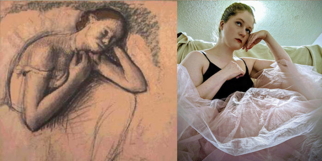 Inspired by Edgar Degas, Seated Dancer, c. 1898. Gift of Howard D. and Babette L. Sirak.