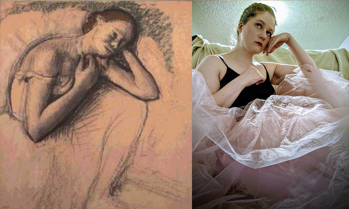 Recreate Famous Art: Degas ballerina