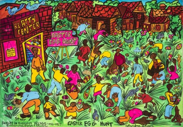Aminah Robinson, Easter Egg Hunt, 1983.