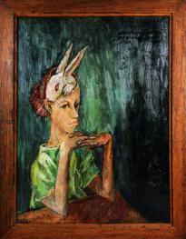 Aminah Brenda Lynn Robinson, Self-Portrait with Rabbit, 1959