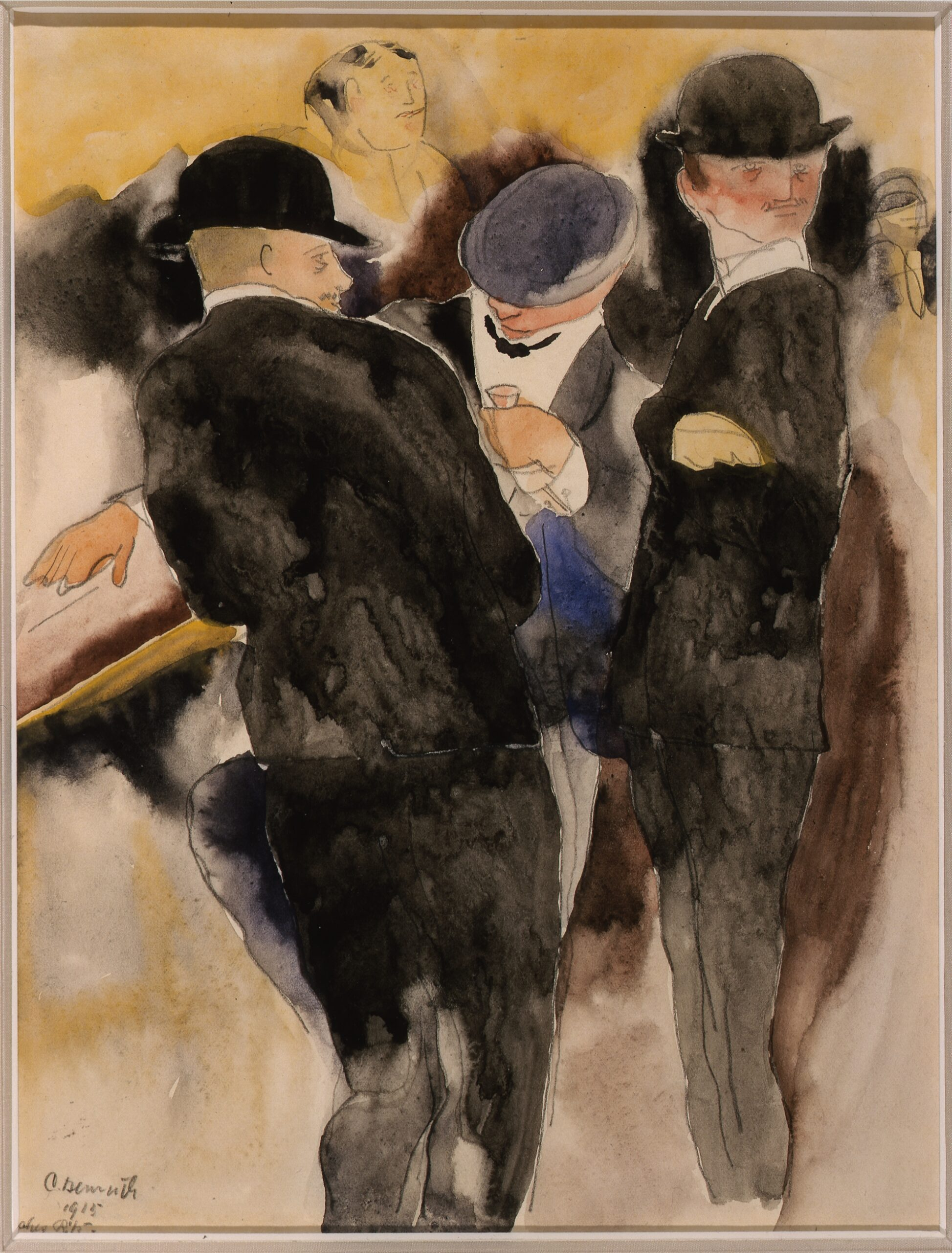 Charles Demuth, The Drinkers. 1915. Gift of Ferdinand Howald
