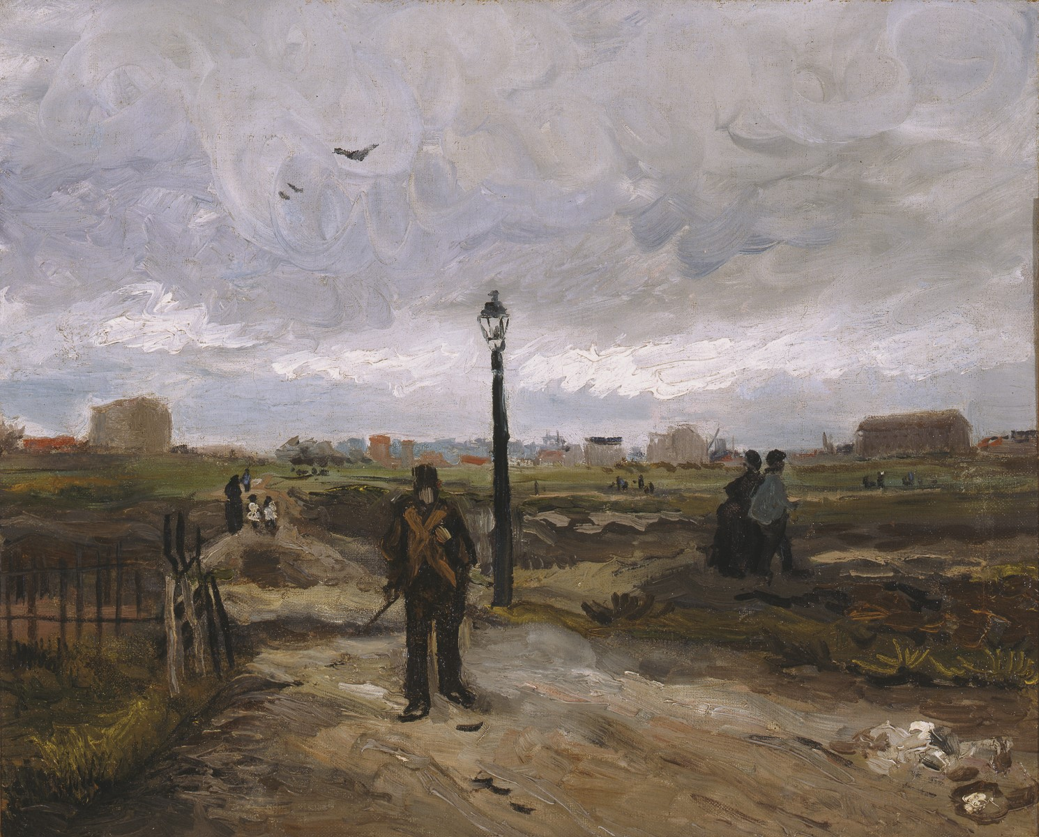Vincent van Gogh (Dutch, 1853¬–1890), The Outskirts of Paris, 1886. Oil on canvas, 18 × 211⁄8 in. Private Collection in memory of Marie Wangeman, L.2005.1.