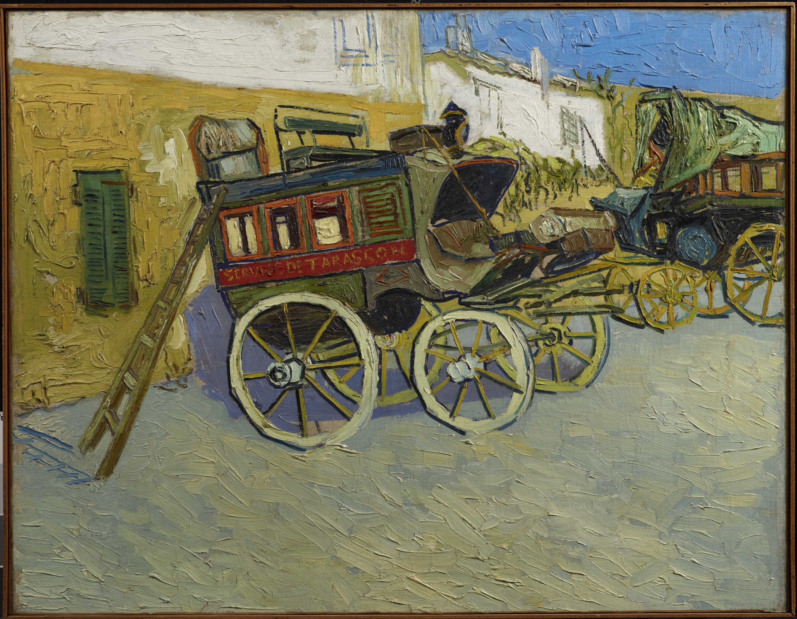 Vincent van Gogh (Dutch, 1853–1890), Tarascon Stagecoach, 1888. Oil on canvas, 28 1⁄8 × 36 7/16 in. The Henry and Rose Pearlman Foundation, on loan since 1976 to the Princeton University Art Museum, L.1988.62.11. Photo: Bruce White.