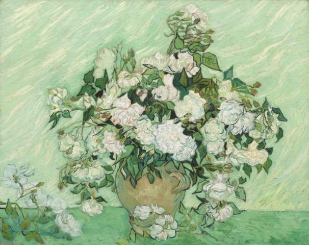 Vincent van Gogh (Dutch, 1853–1890), Roses, 1890. Oil on canvas, 27 15/16 × 35 7/16 in. National Gallery of Art, Washington, DC, gift of Pamela Harriman in memory of W. Averell Harriman, 1991.67.1.