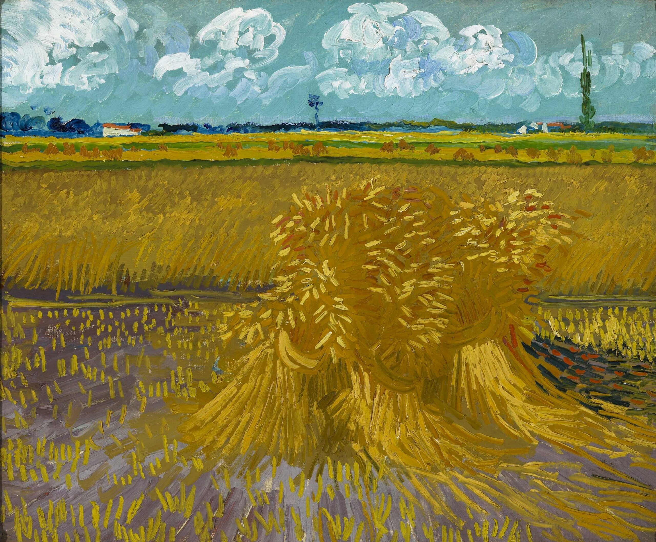 Vincent van Gogh (Dutch, 1853–1890), The Wheatfield, 1888. Oil on canvas, 21 3⁄4 × 26 1⁄4 in. Honolulu Museum of Art, Gift of Mrs. Richard A. Cooke and Family in memory of Richard A. Cooke, 1946, 377.1.