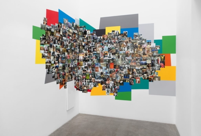 Deana Lawson, Assemblage, 2010- Present, Drugstore photographs and specimen pins variable, Courtesy the artist and David Kordansky, Los Angeles, CA