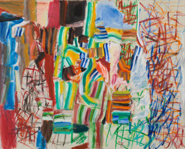 Roy Lichtenstein, Variations No. 7, 1959. Oil on canvas, 48 x 60 inches (121.9 x 152.4 cm). Collection of the Whitney Museum of American Art, New York. The Roy Lichtenstein Study Collection; gift of the Roy Lichtenstein Foundation, 2019.277. Estate of Roy Lichtenstein.