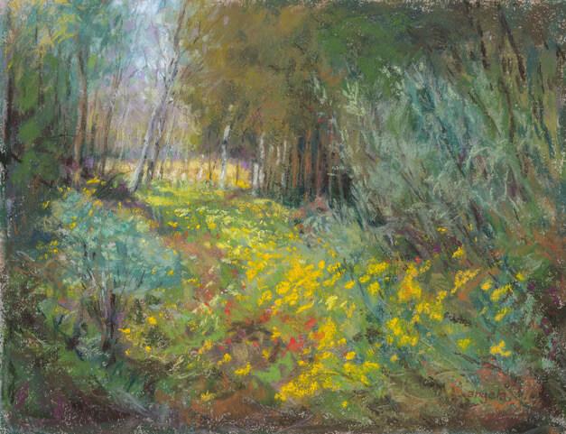 Angela Gage - Wiese im Wald