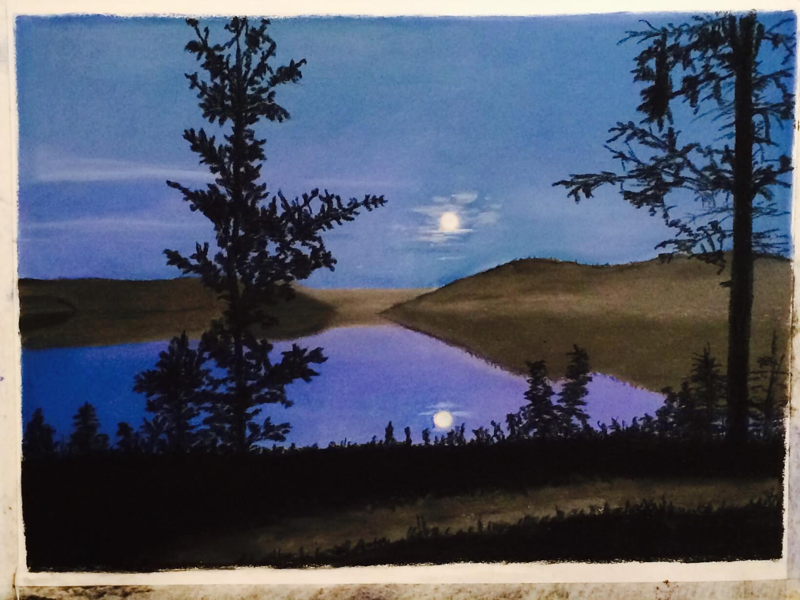 Tina Husted -  Arctic Moonset