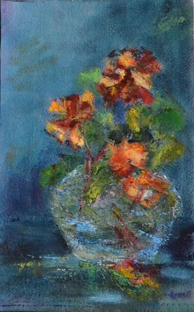 Rachel Stern - Vase of Summer Flowers