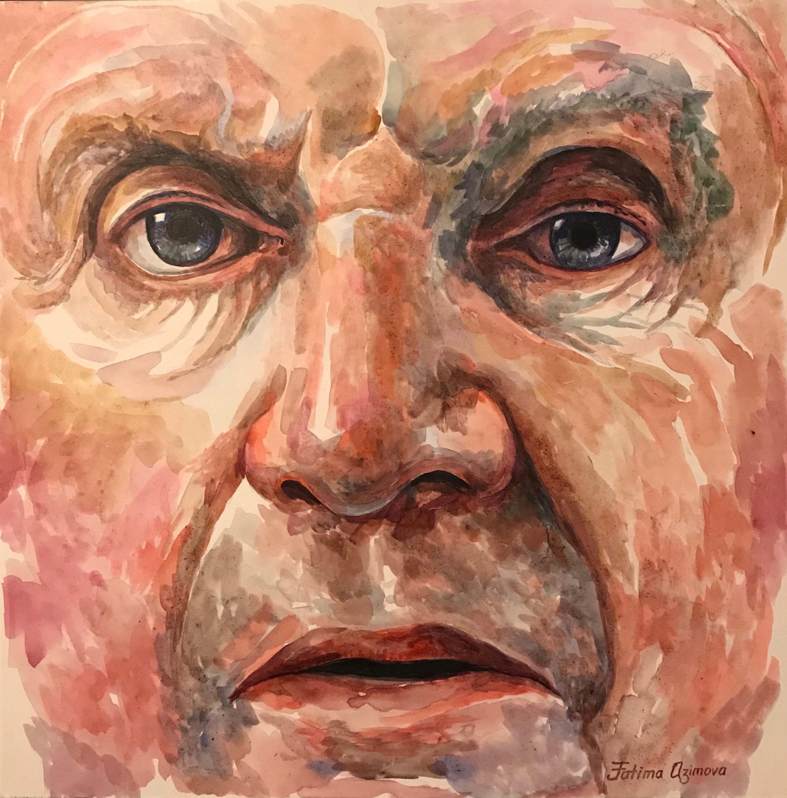 Fatima Taylor (Azimova) - Portrait of Francis Bacon