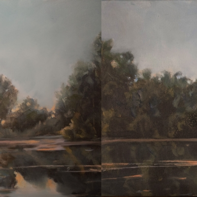 Carolyn Heffeilfinger - Channel to the Lake I & II