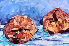 Maureen E Clark - Peach Still Life 3